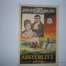 Cine: PROGRAMA CINE AUSTERLITZ.-. Lote 34136378