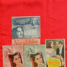 Cine: NINOTCHKA, 7 PROGRAMAS 2 TROQUELADOS 1 DOBLE MGM, GRETA GARBO, 4 CON PUBLICIDAD. Lote 34171889