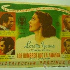 Cine: PROGRAMA CINE LOS HOMBRES QUE LA AMARON-PUBLICIDAD. Lote 34208207