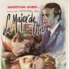 Cine: LA MUJER DEL OTRO-MARTHA HYER-RAFAEL GIL-MÁS COLECCIONISMO EN RASTRILLO PORTOBELLO. Lote 34198827