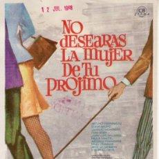 Cine: NO DESEARÁS LA MUJER DE TU PRÓJIMO-ARTURO FERNANDEZ-MÁS COLECCIONISMO EN RASTRILLO PORTOBELLO. Lote 34199932