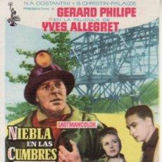 Cine: NIEBLA EN LAS CUMBRES-GERARD PHILIPE-YVES ALLEGRET-MÁS COLECCIONISMO EN RASTRILLO PORTOBELLO. Lote 34200270