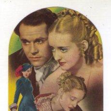 Cine: TROQUELADO - JEZABEL - BETTE DAVIS - 1938 - PUBLICIDAD EN CINE AVENIDA. Lote 34299490