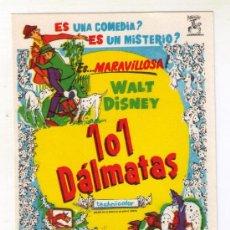 Cine: 101 DÁLMATAS - WALT DISNEY - 1961 - SIN PUBLICIDAD. Lote 36686610