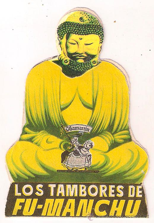LOS TAMBORES DE FU MANCHU PROGRAMA DOBLE TROQUELADO CHAMARTIN HENRY BRANDON JORNADA 2 (Cine - Folletos de Mano - Terror)