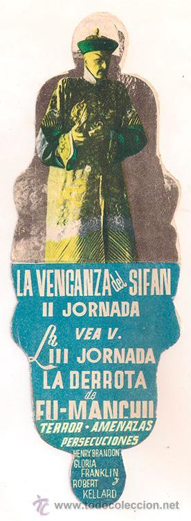 Cine: LOS TAMBORES DE FU MANCHU PROGRAMA DOBLE TROQUELADO CHAMARTIN HENRY BRANDON JORNADA 2 - Foto 2 - 34356986