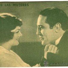 Flyers Publicitaires de films Anciens: PROGRAMA CINE - IDOLO DE LAS MUJERES - MAX BAOR - PRIMO CARNERA - MYRNA LOY. Lote 36420069