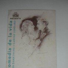 Cine: PROGRAMA DE MANO LA COMEDIA DE LA VIDA CIFESA JOHN BARRYMORE Y CAROLE LOMBARD POR HOWARD HAWKS UNICO. Lote 34398164