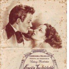 Cine: CANCION INOLVIDABLE - TROQUELADO -TRIPLE. Lote 34400012
