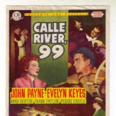 Cine: CALLE RIVER, 99 - JOHN PAYNE - 1953 - PUBLICIDAD EN AVENIDA EL 9-1-54. Lote 34414994