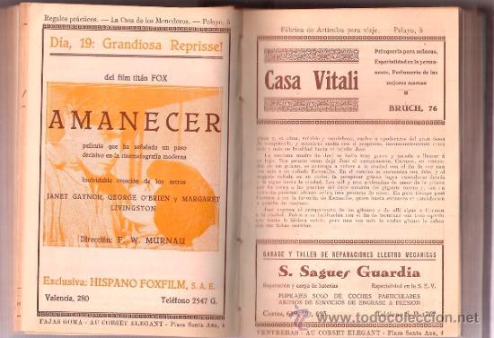 Cine: D LOTE DE CUATRO VOLUMENES DE PROGRAMAS ENCUADERNADOS CAPITOL CINEMA 1926-1928 - Foto 3 - 34400937