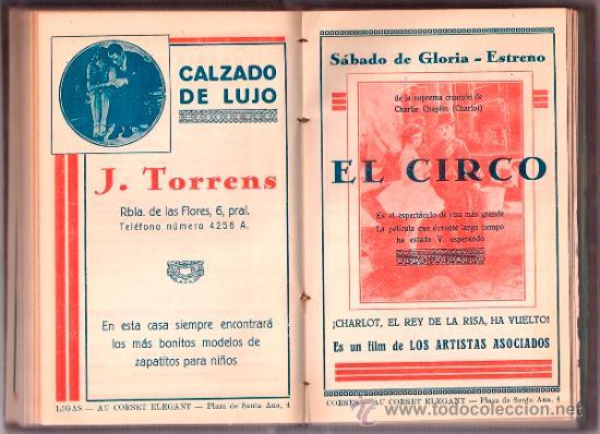 Cine: D LOTE DE CUATRO VOLUMENES DE PROGRAMAS ENCUADERNADOS CAPITOL CINEMA 1926-1928 - Foto 4 - 34400937