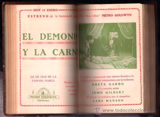 Cine: D LOTE DE CUATRO VOLUMENES DE PROGRAMAS ENCUADERNADOS CAPITOL CINEMA 1926-1928 - Foto 5 - 34400937