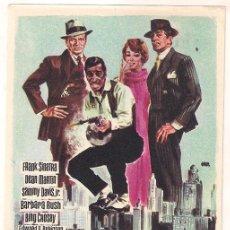 Cine: 4 GANGSTERS DE CHICAGO PROGRAMA SENCILLO SUEVIA FRANK SINATRA DEAN MARTIN RAT PACK. Lote 34424583