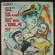Cine: BOTON DE ANCLA EN COLOR,DUO DINAMICO, MANUEL GIL, GILA, (1/29) FM, SIN PUBLICIDAD, VER FOTO. Lote 289561233