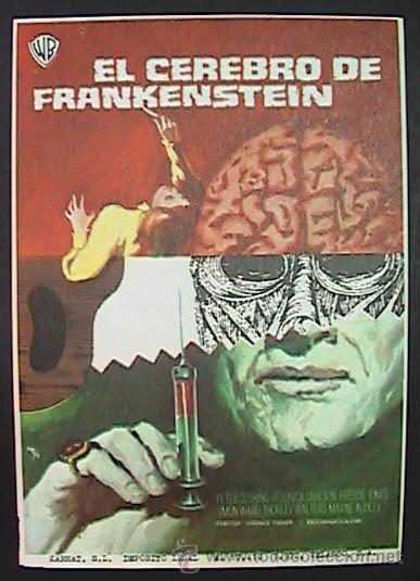 EL CEREBRO DE FRANKENSTEIN,, (1/35) FM, SIN PUBLICIDAD, VER FOTO (Cine - Folletos de Mano - Terror)