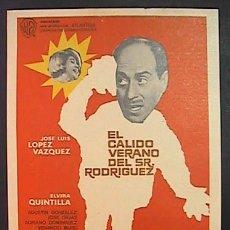 Cine: EL CALIDO VERANO DEL SR. RODRIGUEZ,JOSE LUIS LOPEZ VAZQUEZ, (1/105) FM, SIN PUBLICIDAD, VER FOTO. Lote 254003680