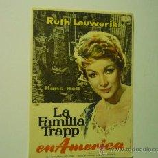 Cine: PROGRAMA CINE LA FAMILIA TRAPP EN AMERICA .- RUTH LEUWERIK. Lote 34450076