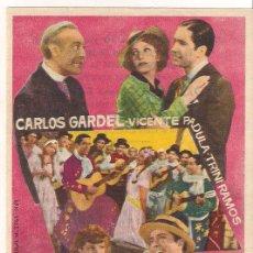 Cine: EL TANGO EN BROADWAY PROGRAMA SENCILLO CARLOS GARDEL. Lote 34456333