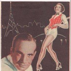 Flyers Publicitaires de films Anciens: CASINO DE PARIS PROGRAMA DOBLE WARNER AL JOLSON RUBY KEELER. Lote 34458103