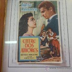 Cine: FOLLETO DE MANO DE CINE ENTRE DOS AMORES. Lote 34540367