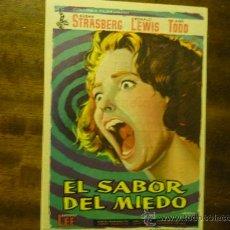 Cine: PROGRAMA CINE EL SABOR DEL MIEDO.- SUSAN STRASBERG-PUBLICIDAD. Lote 34552653