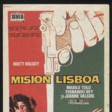 Cine: P-0097- MISION LISBOA (BRETT HALSEY - MARILÙ TOLO - FERNANDO REY - JEANNE VALÉRIE). Lote 30925368