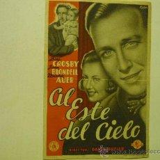 Cine: PROGRAMA CINE A ESTE DEL CIELO .-BING CROSBY. Lote 34597873