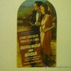 PROGRAMA TROQUELADO DEFIENDO MI VIDA -JOHN GARFIELD
