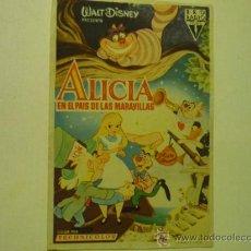 Cine: PROGRAMA CINE DISNEY -ALICIA EN EL PAIS DE LAS MARAVILLAS. Lote 34605767