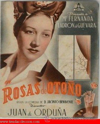 ROSAS DE OTOÑO (Cine - Folletos de Mano - Drama)
