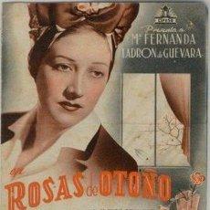 Cine: ROSAS DE OTOÑO. Lote 34630129