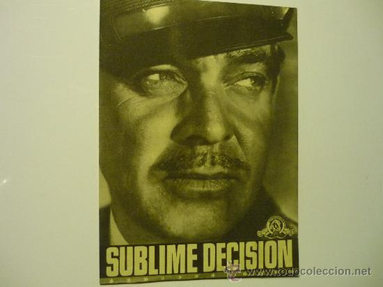 PROGRAMA CINE SUBLIME DECISION .-CLARK GABLE (Cine - Folletos de Mano - Bélicas)