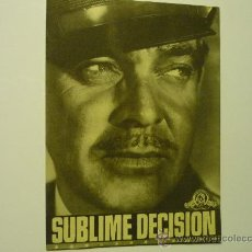 Cine: PROGRAMA CINE SUBLIME DECISION .-CLARK GABLE. Lote 34665919