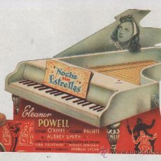 Folhetos de mão de filmes antigos de cinema: PROGRAMA TROQUELADO NOCHE SIN ESTRELLAS ELEANOR POWELL. Lote 34671856