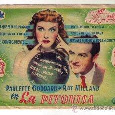 Cine: LA PITONISA - PAULETTE GODDARD - 1943 - SIN PUBLICIDAD. Lote 34678887