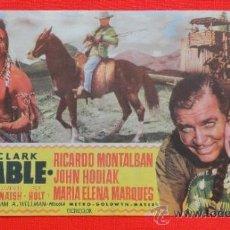 Cine: MAS ALLA DEL MISSOURI, DOBLE MGM, CLARK GABLE, EXCELENTE ESTADO CON PUBLICIDAD TEATRO FALLA. Lote 34682346