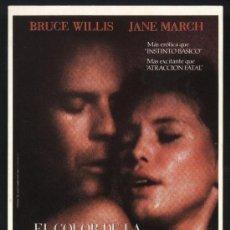 Cine: P-0175- EL COLOR DE LA NOCHE (COLOR OF NIGHT) BRUCE WILLIS - JANE MARCH - LESLEY ANN WARREN. Lote 34698109