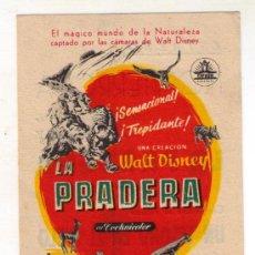 Cine: LA PRADERA - WALT DISNEY - 1954 - PUBLICIDAD EN MONTERROSA. Lote 34706190