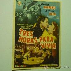 Cine: PROGRAMA CINE TRES HORAS PARA VIVIR - DANA ANDREWS. Lote 34724085