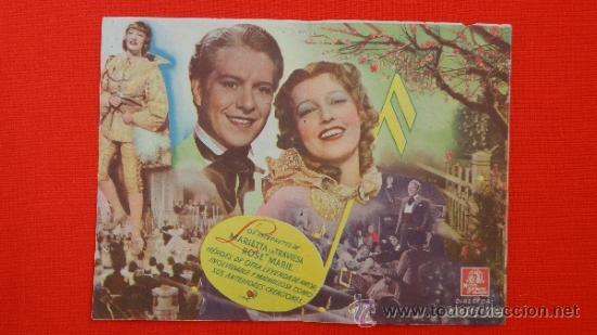Cine: PRIMAVERA, 2 PROGRAMAS 1 DOBLE, ORIGINALES, JANETTE MCDONALD NELSON EDDY, SIN PUBLICIDAD - Foto 3 - 34702138