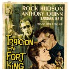 Cine: TRAICIÓN EN FORT KING - PROGRAMA CINE 1962 - CARLOS III (ALICANTE). Lote 34729434