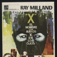 Cine: P-0199- EL HOMBRE CON RAYOS X EN LOS OJOS (X: THE MAN WITH THE X-RAY EYES) (RAY MILLAND). Lote 20957223