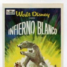 Cine: INFIERNO BLANCO DE WALT DISNEY.. Lote 34794657