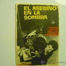 Foglietti di film di film antichi di cinema: PROGRAMA EL ASESINO EN LA SOMBRA.-. Lote 109496378