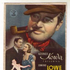Cinema - DELATOR ANÓNIMO - EDMUND LOWE - 1937 - PUBLICIDAD EN IDEAL CINEMA - MONISTROL - 34881812