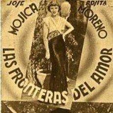 Cine: LAS FRONTERAS DEL AMOR.- SENCILLO-CARTULINA.- REVERSO CINE GOYA. Lote 34900900
