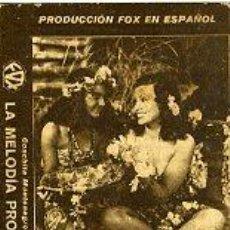 Cine: LA MELODIA PROHIBIDA.- SENCILLO-CARTULINA.- REVERSO TEATRO ODEON DE SAN ANDRES. Lote 34900959