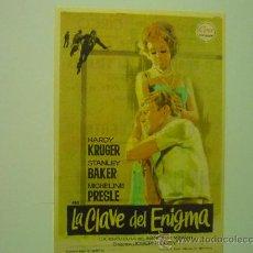 Cine: PROGRAMA LA CLAVE DEL ENIGMA -HARDY KRUGER-PUBLICIDAD. Lote 34928285
