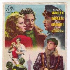 Cine: LOS QUE VIVIMOS Y ADIOS KIRA - ALIDA VALLI - 1942 - SIN PUBLICIDAD. Lote 34937959